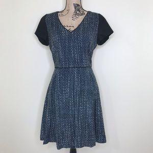 Banana Republic | Blue Tweed Fit & Flare Dress (8)